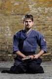 Combatiente de Kendo Imagen de archivo libre de regalías