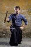 Combatiente de Kendo Fotografía de archivo libre de regalías