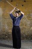 Combatiente de Kendo Imágenes de archivo libres de regalías