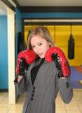 Combatiente de la mujer de negocios Imagen de archivo