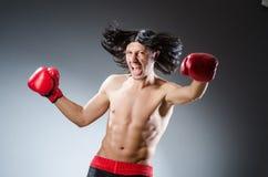 Combatiente de los artes marciales Fotografía de archivo