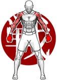 Combatiente de MMA Foto de archivo libre de regalías
