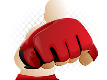Combatiente de MMA stock de ilustración