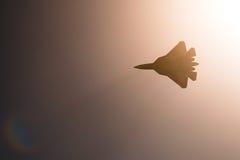 Combatiente de Sukhoi T-50 PAK FA en MAKS Airshow 2015 Imágenes de archivo libres de regalías
