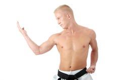 Combatiente de Taekwondo Fotos de archivo