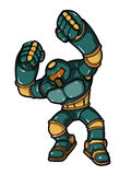 Combatiente del Cyborg ilustración del vector
