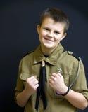 Combatiente del explorador de muchacho Imagen de archivo libre de regalías