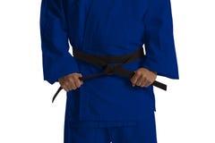 Combatiente del judo de los países diferentes Imagen de archivo libre de regalías