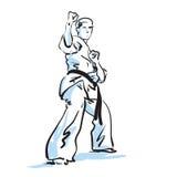 Combatiente del karate libre illustration