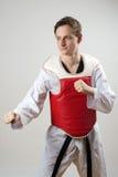 Combatiente del Taekwondo Fotos de archivo