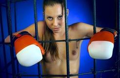 Combatiente femenino Fotografía de archivo