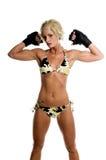 Combatiente femenino de MMA foto de archivo libre de regalías