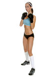 Combatiente femenino de MMA fotos de archivo libres de regalías