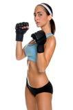 Combatiente femenino de MMA fotos de archivo