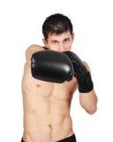 Combatiente joven del boxeador Fotografía de archivo libre de regalías