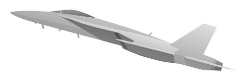 Combatiente militar moderno Jet Aircraft stock de ilustración