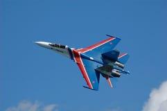 Combatiente militar su-27 Imágenes de archivo libres de regalías