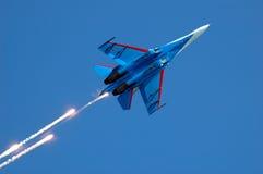 Combatiente militar su-27 2 Imagen de archivo libre de regalías