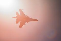 Combatiente y bombardero de Sukhoi Su-34 en MAKS Airshow 2015 Imagen de archivo libre de regalías