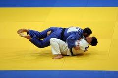Combatientes del judo Imagen de archivo libre de regalías