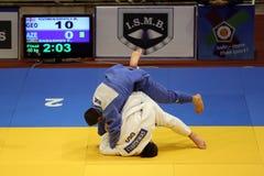 Combatientes del judo Fotos de archivo