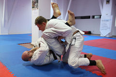 Combatientes del judo Imagenes de archivo