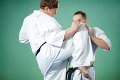 Combatientes del karate Imagenes de archivo