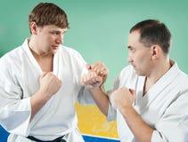 Combatientes del karate Fotografía de archivo libre de regalías