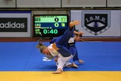Combatientes femeninos del judo Foto de archivo