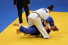 Combatientes femeninos del judo Fotos de archivo