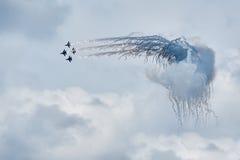 Combatientes militares Su-27 del aire Foto de archivo libre de regalías