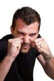 Combative man Stock Image
