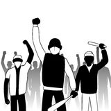 Combative protesters. This is an illustration of combative protesters Royalty Free Stock Photography