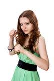Combats de femme Photos stock