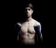 Combattant de boxe Photo stock