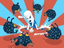 Combattant de capsule illustration de vecteur