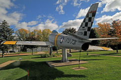 Combattant de Guerre de Corée des USA F86 Sabrejet photos libres de droits