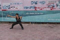 Combattant de kung-fu Photographie stock