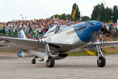 Combattant de mustang de P-51D Photographie stock libre de droits