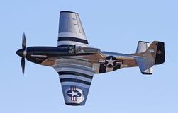Combattant de mustang du vintage P-51 Photo stock