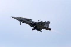 Combattant de Saab JAS-39 Gripen Image libre de droits