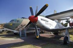 Combattant du mustang F-51 (Etats-Unis), mémorial de guerre de la Corée, Jeonjaeng ginyeomgwan, Yongsan-Dong, Séoul, Corée du Sud Images libres de droits