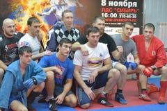 Combattants célèbres à Novosibirsk Image libre de droits