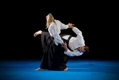 Combattants d'arts martiaux photographie stock