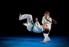 Combattants d'arts martiaux d'enfants images libres de droits