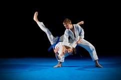 Combattants d'arts martiaux d'enfants photo stock