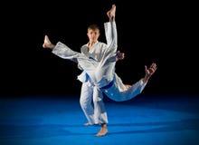 Combattants d'arts martiaux d'enfants photos stock