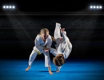 Combattants d'arts martiaux d'enfants image libre de droits