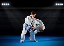 Combattants d'arts martiaux d'enfants photos libres de droits