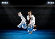 Combattants d'arts martiaux d'enfants photographie stock